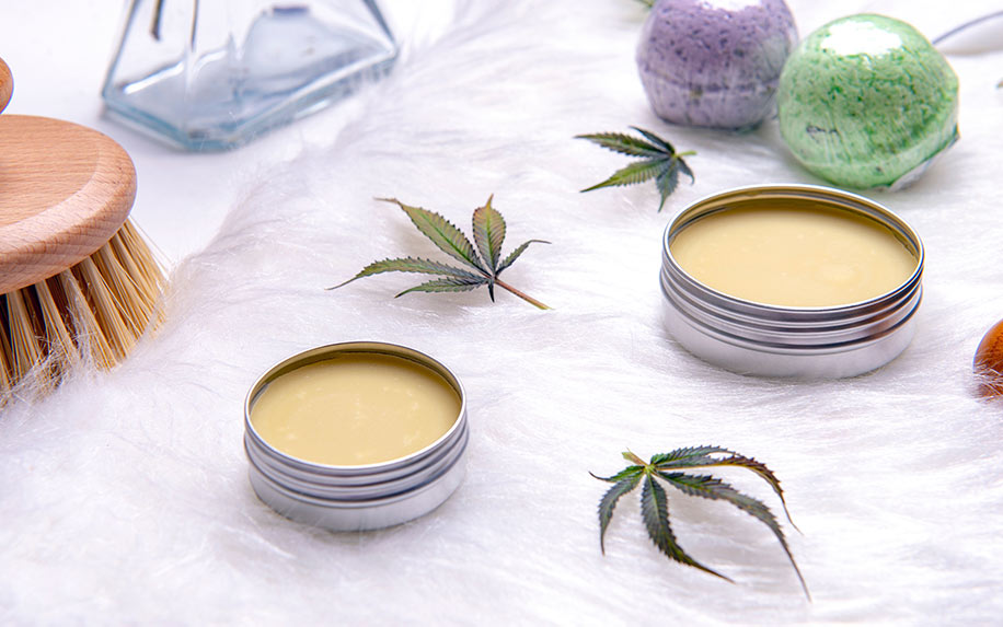 Selection of CBD skin creams