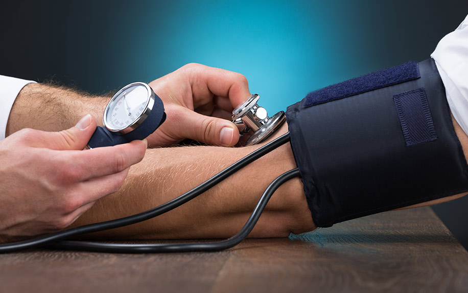 CBD being used to improve blood pressure.
