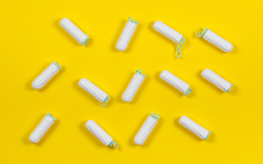 Using cannabis in tampons for periods.