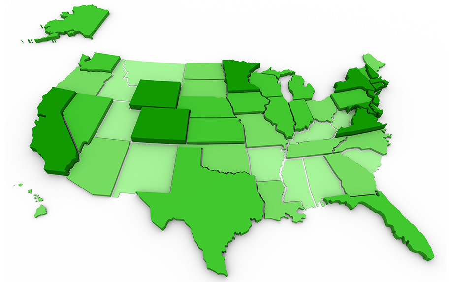 States in the U.S. where cannabis is legal