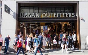 Urban Outfitters clothing store shop front.