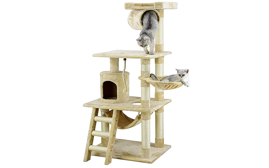 62-Inch Cat Tree by Go Pet Club.