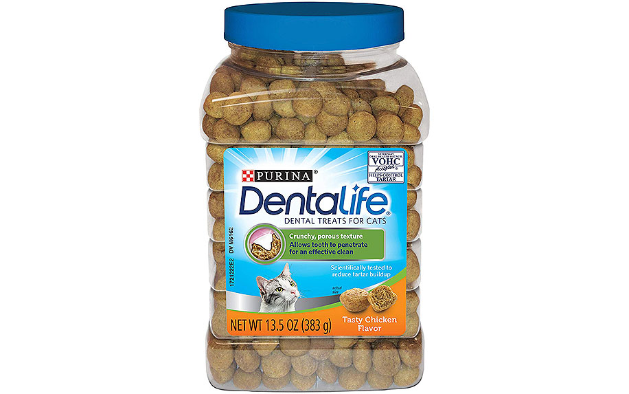 DentaLife Adult Cat Treats by Purina.