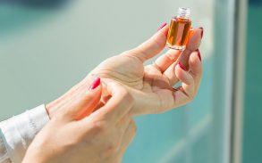 Pulse points on skin for CBD oil.