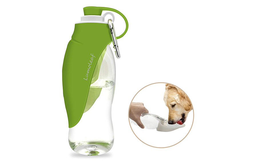 Portable Pet Water Bottle by LumoLeaf.
