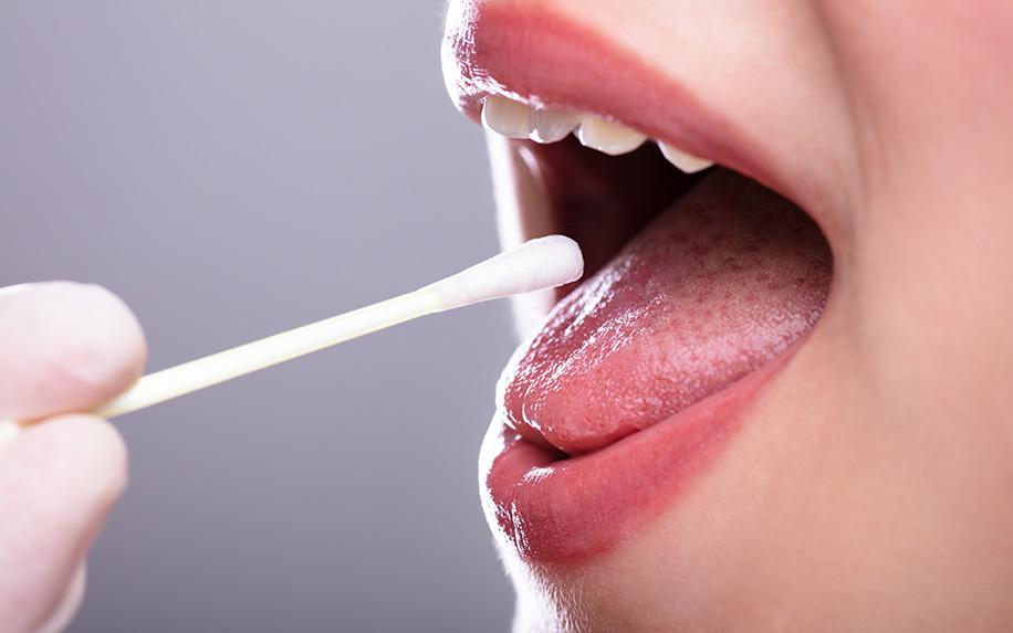 THC saliva testing kit.