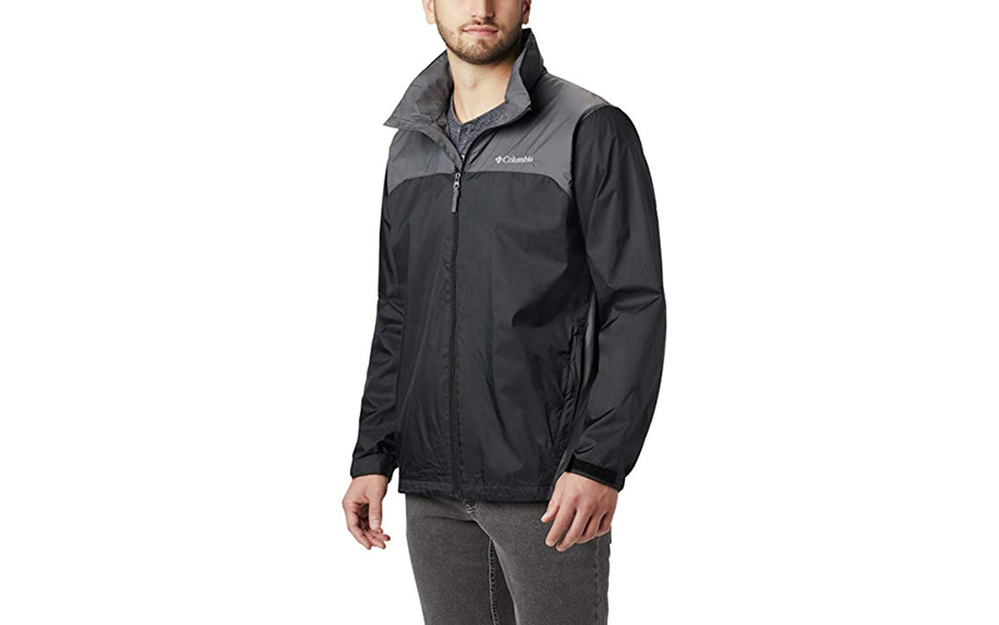 Men's Glennaker Lake Rain Jacket with Hideaway Hood by Columbia