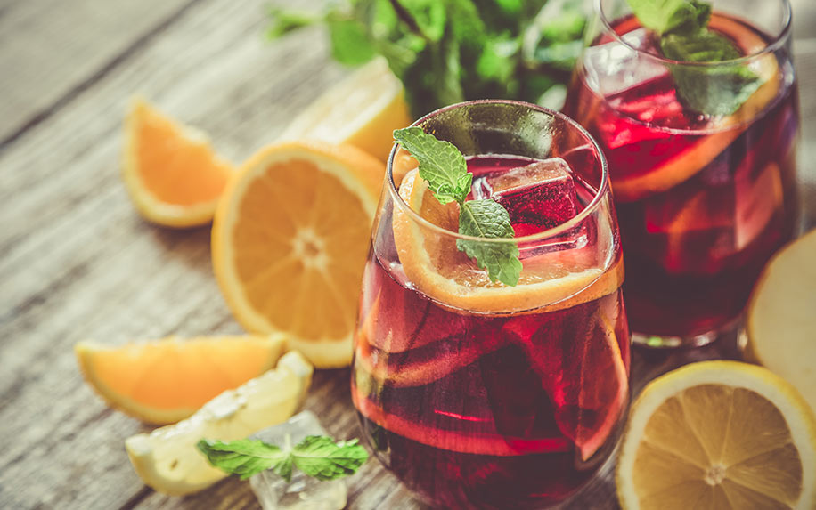 Sangria infused with CBD.