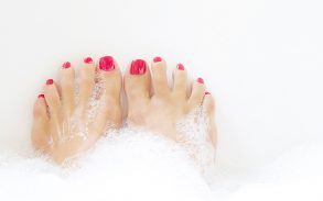 CBD salts used to help feet.