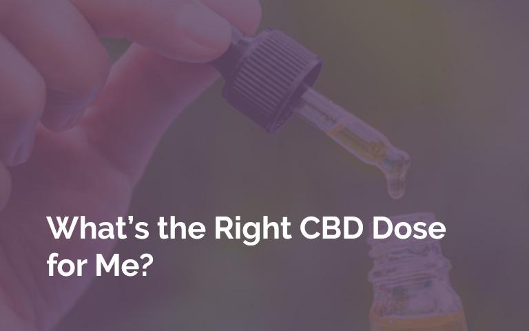 CBD Tincture Dropper Dosing
