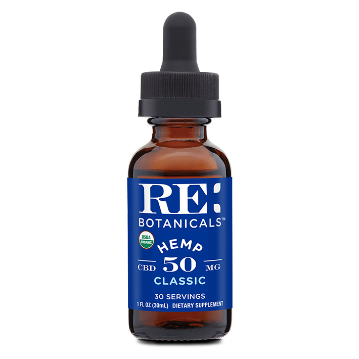 RE: Botanicals CBD product label information