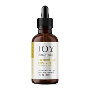 Premium hemp tincture by Joy Organics