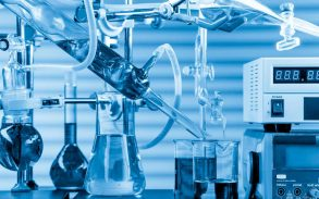 Lab Testing beakers and machinery