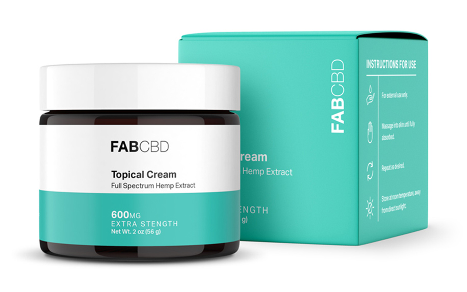 CBD cream and moistuizer by Fab CBD