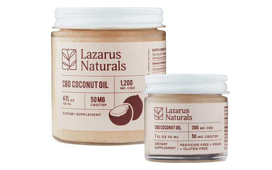 CBD Coconut Oil by Lazarus Naturals