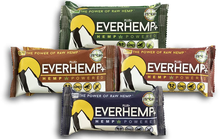 EVERHEMP+ Complete Variety 16-Pack of Protein Bars by Livity Foods