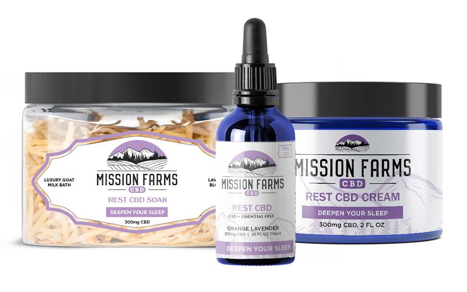 Rest CBD Oil Bundle by Mission Farms