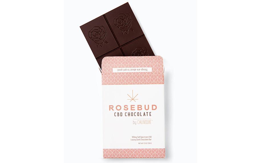 CBD Dark Chocolate Bar by Rosebud x Calievolve