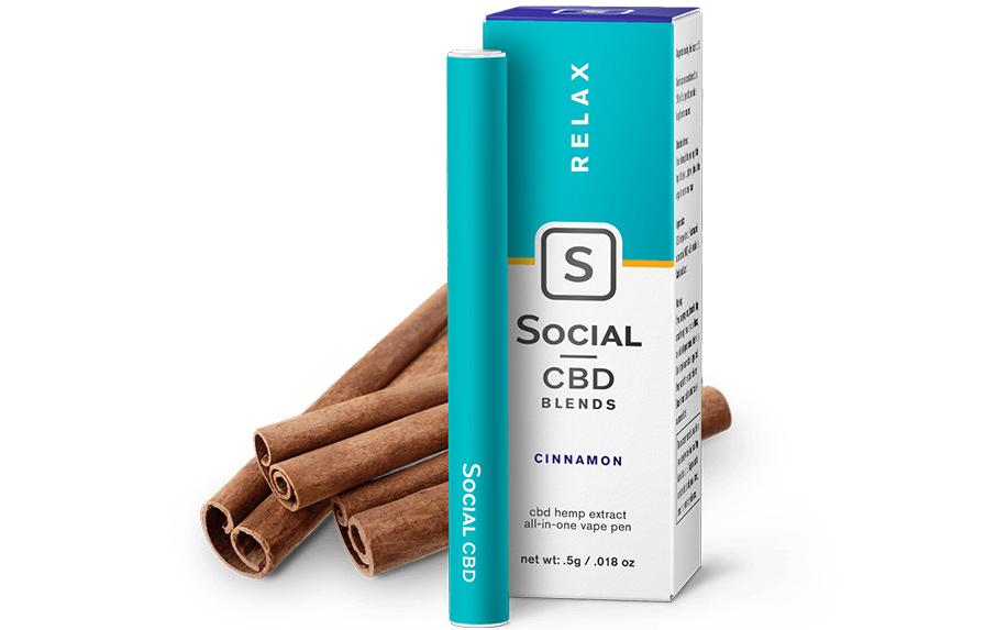 Relax Cinnamon Vape Pen by Social CBD